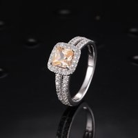 Wholesale Star Harvest square shaped wedding sterling silver ring couple rings is for marriage and is for love