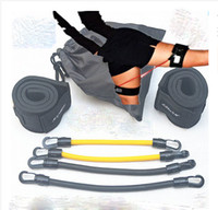 ankle bands exercise - 2016 fitness exercise latex tube resistance band leg thigh powerful explosive force hip flexors flexion quadriceps Ankle Straps