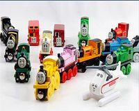 Wholesale Wooden Trains Cartoon Toys Styles kids wooden Toys Trains Friends Wooden Trains Car Toys