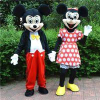 Venta al por mayor - Disfraces de los personajes de la mascota de la escuela del traje de la mascota de la historieta del ratón de Mickey Minne de la En-acción para los individuos nave rápida