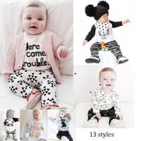 Wholesale Ins Hot Baby clothes Cute Cartoon Boys Suits Girls Outfit Summer Sets New Cotton Tops Harem Pants Set