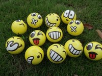 Wholesale New Christmas party FUN Emoji Face Squeeze Balls Stress Relax Emotional Toy Balls Fun Office Holiday Gift Stocking Stuffer