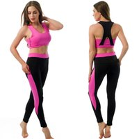 auto fitness - Women Yoga Sets Bra Pants Fitness Workout Clothing And Women s Gym Sports Running Girls Slim Leggings Tops Sport Suit For women Female