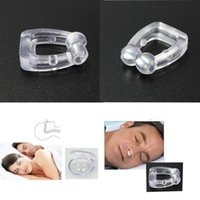 Wholesale New Portable Stop Snoring Anti Snore Magnetic Nose Clip Care Tray Sleeping Aid Give You A Good Sleep