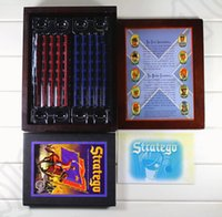 Wholesale Stratego Board Game Wooden Box Vintage game collection Classic Game of Battlefield Strategy Western military chess OOA813