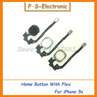 Wholesale 10pcs New Home Button Sensor Ribbon Flex Cable Complete Assembly Spare Part Replacement for iPhone S