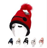 golf ball sleeves - Top Hot new Korean cartoon warm white fur ball knitted hat winter utility female plus velvet thick wool cap sleeve head hat