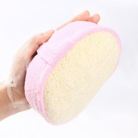 Wholesale In business Loofah shower SPONGE brushes natural loofah sponge bath brush scrub exfoliating bath towel bath towel gloves