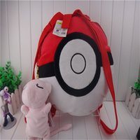 accessory children video - New Cartoon Poke plush toys backpack accessories POKE Pikachu Stuffed Animals Christmas Elf ball backpack and accessories set Children best