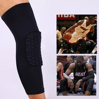 basketball equipment - A pair Sports equipment Honeycomb Kneepad crashproof anticollision knee cap knees Protection Football Basketball knee pads kneelet