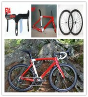 Wholesale new Red F8W Carbon Road Bicycle Bikes with Original groupset ipp Carbon Road Wheelset carbon handlebar