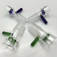 Wholesale Newest Thick Glass Bowl mm Or mm Standard Female Joint Tobacco Catcher Herb Holder Cheap two Color