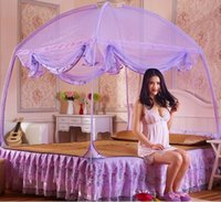 Wholesale Brand New Yurt Three Zipper Door Baby Care Mosquito Net Luxury Home Romantic Decoration Good Sleep Camp Nets