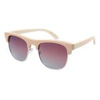 bamboo logo design - Hot sale fashion polarized sunglasses full bamboo frame sunglasses semi rimless bamboo eyeglasses with customized logo design