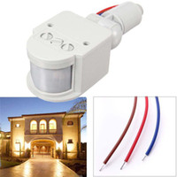 Wholesale RF M Outdoor LED Security PIR Infrared Motion Sensor Detector Wall Light