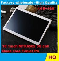 9.7 inch ips capacitive - 10INCH inch MTK6582 IPS HD Quad Core G Tablet Phone G ROM G RAM Dual Camera super slim biens DHL