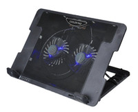 Wholesale Notebook cooling pad Blue LED Laptop Cooler Fans USB Port Stand Pad for Laptop quot PC usb cooler for notebook