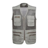 Wholesale Fall New Arrival Multi pockets Outdoor Vest Men Professional Photography Cameraman Mesh Vest for Hunting Director Reporter Vests