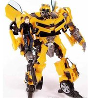 Wholesale 50pcs Transformation Human Alliance Robot Bumblebee and Sam Anime Movie Model Action Figures classic toys for boys cartoon with box jy297