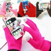apple touch games - Women Men Winter Couple Warm Knit Screen Touch Game Gloves Touchscreen Mittens Glove