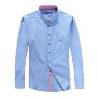Cheap 2016 summer dress shirt men cotton chemise homme thin striped shirt brand men shirt slim fit hotsale in Brazil dudalina 5 colors 21# M-4XL