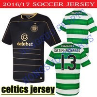 best common - BEST QUALITY Glasgow Celtic jerseys HOME AWAY Black MULGREW LUSTIG UIRGIL BITTON BROWN FORREST STOKES COMMONS ARMSTRONG SHITR