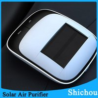 Wholesale New Solar Car Air Purifier Negative Ion Oxygen Bar Aromatherapy Machine Hepa Carbon Solar Air Purifier Free DHL