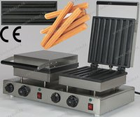 baked churros - 14pcs Commercial Use Non stick v v Electric Dual Churros Machine Maker Iron Bake