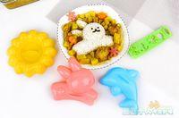 Wholesale Rice mould rabbit mould dolphin mould cookie mould sunflower cookie mould DYI mould lovely mould plastic mould sushi mould Onigiri mould