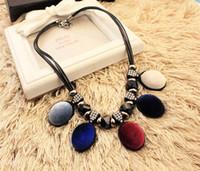 Wholesale 2016 New Arrival Luxury Unique Statement Choker Necklace Bule Crystal Necklaces Pendants For Women