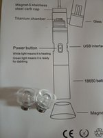 Wholesale G9 HENAIL replacement ceramic nail quartz nail glass pipe for Portable H E nail Henail wax vaporizer