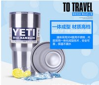 Wholesale A22 Popular in Europe and America pushed the pieces of the yeti double vacuum inside and outside straight stainless steel car cup