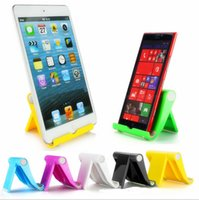 Cheap Universal bracket folder stand holder lazy people PC Colorful desk support 270 degree fold stands for iphone Samsung s7 ipad Tablet PC 9.7
