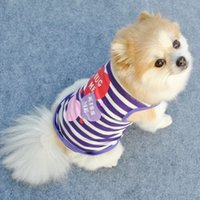 Wholesale Dog Apparel Summer Dog Vest Shirt Clothes Coat Pet Cat Puppy Cotton Vests HUG Me Kiss ME Love Me Clothing For Dogs Costumes