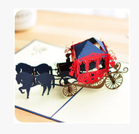 beautiful carriage - Dream carriage D greeting cards for you best wishes event party decoration beautiful invitation cards hot sale
