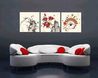 beijing landscapes - unframed Pieces Canvas Prints paper folding fan Rockery flower waterfall Abstract Cartoon frog fish Beijing opera