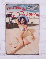 bahamas vacation - quot Vacation In The Bahamas quot Tin Sign Metal Poster Decor Art quot x12