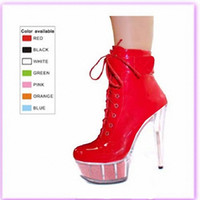 ankle boots buy - buying artificial light PU tou package with evening dress shoes nightclub ultra high heels model props boots