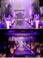 Wholesale Luxury Wedding Centerpieces Aisle Runner Mirror Carpets For Wedding T Station Decoration Gold Silver Purple Rose Red color Available