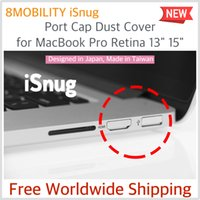 Wholesale 8Mobility iSnug Stylish Aluminum Port Cap Dust Cover For MacBook Retina quot quot Year to Silver
