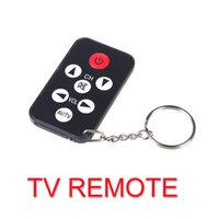 Wholesale Universal Infrared IR Mini TV Set Remote Control Keychain Key Ring Keys
