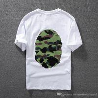 bamboo t-shirt - suprem Hot new spring summer classic camouflage head of man Man head men s short sleeve T shirt