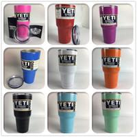 beer water cooler - Yeti oz Cups Cooler Colored Powder Coasted Rambler Tumbler Travel Vehicle Beer Mug Bilayer Vacuum Insulated Stainless Steel Mugs