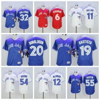 baseball jerseys - Baseball Jerseys Toronto Blue Jays Original Baseball Uniform Josh Donalson Bautista Tolowizki Majestic Cool Base Jerseys