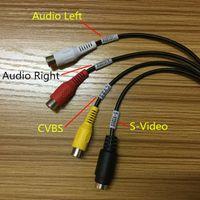 Wholesale USB Video TV DVD VHS Capture Card Audio AV Adapter for Computer CCTV Camera CH DC60 HTV600 Chip