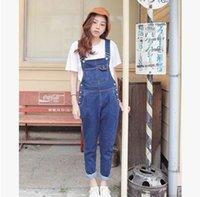 big overalls - Korean individuality Summer Women s Denim Overall big pocket design Loose Denim Jumpsuit Jeans Suspender Trousers
