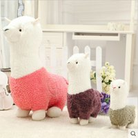 baby sheep for sale - Hot Sale Lovely Alpaca Sheep Lama Pacos Grass Mud Horse cm Plush Toy Present For Children s Baby Birthday Holiday Gift
