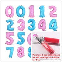 aluminum number - Numbers Aluminum Foil Balloons Inch Large Balloon Printing Heart Wedding Birthday Party Supplies Decor Numbers Aluminum Film Ballloon