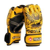 Wholesale 2016 New Arrival MMA PU Boxing Gloves Training Gloves Half Finger Muay Thai Kick Fighting Gloves