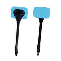 Wholesale 1Pc Microfiber Auto Window Cleaner Long Handle Car Wash Brush Dust Car Care Windshield Shine Towel Handy Washable